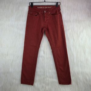 AEO Red Rust Colored Skinny Jeans Size 26/28